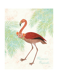 Flamingo Tropicale II Premium Giclee Print by Sue Schlabach