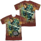 Suicide Squad- Slipknot Psychedelic Graffiti (Front/Back) Sublimated