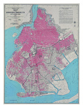 Borough Of Brooklyn Map Print by  Graffi tee Studios