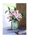 Still Life Pink Clematis Giclee Print by Christopher Ryland