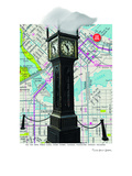 Gastown Clock Vancouver Bc Prints by Lyn Nance Sasser and Stephen Sasser