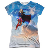 Juniors: Supergirl- Endless Sky Womens Sublimated