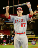 Mike Trout with the MVP Trophy 2015 MLB All-Star Game Photo