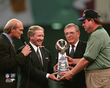 Green Bay Packers President Bob Harlan, GM Ron Wolf, and Coach Mike Holmgren Super Bowl XXXI Photo