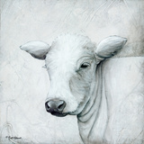 January Cow II Posters af Britt Hallowell