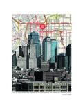 Kansas City Skyline Print by Lyn Nance Sasser and Stephen Sasser