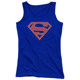 Juniors Tank Top: Supergirl- Classic Emblem Womens Tank Tops