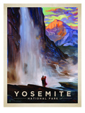KC NP Yosemite Falls Print by  Anderson Design Group