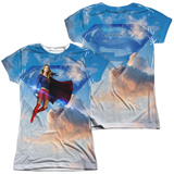 Juniors: Supergirl- Endless Sky (Front/Back) Womens Sublimated