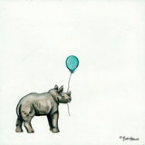 Nursery Rhino Posters by Britt Hallowell