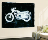Moto White Wall Mural by JB Hall