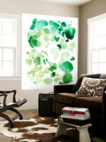 Butterfly Dance in Green C Wall Mural by Allyson Fukushima
