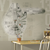 Star Wars Millennium Falcon Prepasted Mural Wallpaper Mural