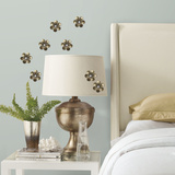 Metal Flower Surface Embellishments Wall Decal