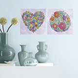 Flower Peel and Stick Color Your Decal Wall Decal