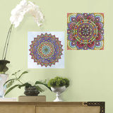 Mandala Peel and Stick Color Your Decal Wall Decal