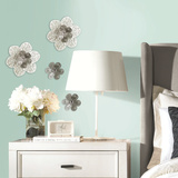 3D Cutout Flower Embellishments Wall Decal