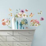 Lisa Audit Garden Bouquet Peel and Stick Wall Decals Wall Decal
