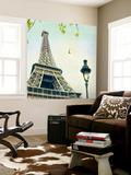 Paris Eiffel Letter Wall Mural by Sue Schlabach