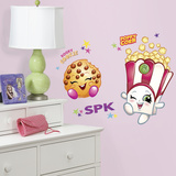 Poppy Corn and Kooky Cookie Shopkins Peel and Stick Giant Wall Decals Wall Decal