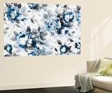 Scent of Roses Indigo I Wall Mural