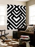 Monochrome Patterns 6 Wall Mural by Natasha Marie