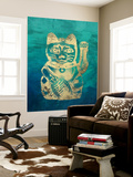 Lucky Cat Wall Mural by THE Studio