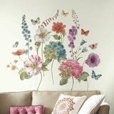Lisa Audit Garden Flowers Peel and Stick Giant Wall Decals Wall Decal
