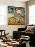 Pug on a Bike Wall Mural by Ryan Fowler