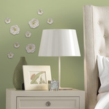 White Flower Surface Embellishments Wall Decal