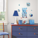 Finding Dory and Friends Peel and Stick Wall Decals Wall Decal