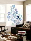 Watercolor Hexagons B Wall Mural by Natasha Marie