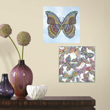 Butterfly Peel and Stick Color Your Decal Wall Decal