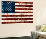 American Flag Wall Mural by Stella Bradley