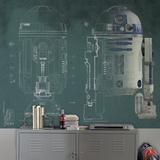 Star Wars R2-D2 Prepasted Mural Wallpaper Mural