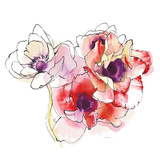 Mistral Trio I White Square Prints by Shirley Novak