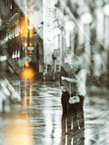 Romance In The Rain Prints by Golie Miamee