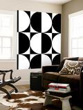 Monochrome Patterns 5 Wall Mural by Natasha Marie