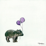 Nursery Hippo Posters af Britt Hallowell