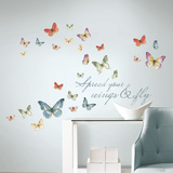 Lisa Audit Butterfly Quote Peel and Stick Wall Decals Wall Decal