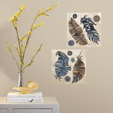 Feathers Peel and Stick Color Your Decal Wall Decal