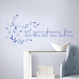 Kathy Davis Set Your Dreams Free Quote Peel and Stick Wall Decals Wall Decal