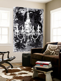 Chandelier Black and White Wall Mural by Kent Youngstrom