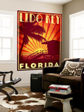 Lido Key Wall Mural by Stella Bradley