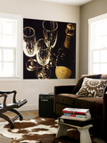 Champagne For Three Wall Mural by Ray Pelley