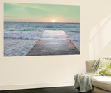 Sunrise Dock Wall Mural by Sue Schlabach