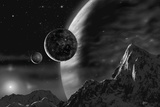 Exoplanet - Noir Giclee Print by David A Hardy