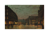 The Lights of Boar Lane, Leeds Premium Giclee Print by John Atkinson Grimshaw