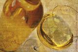 White Wine Grape Impression giclée par Teo Tarras