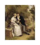 The Lover's Seat: Shelley and Mary Godwin Premium Giclee Print by William Powell Frith